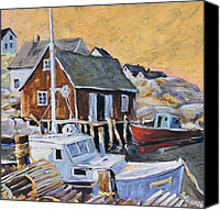 Prankearts Canvas Prints - Peggy s Cove 01 by Prankearts Canvas Print by Richard T Pranke