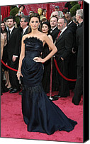 Academy Awards Oscars Canvas Prints - Penelope Cruz Wearing A Chanel Haute Canvas Print by Everett