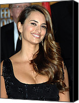 Wavy Hair Canvas Prints - Penelope Cruz Wearing Yossi Harari Canvas Print by Everett