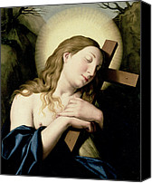 Magdalene Canvas Prints - Penitent Magdalene Canvas Print by Il Sassoferrato