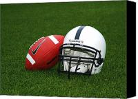 Team Canvas Prints - Penn State Football Helmet Canvas Print by Joe Rokita