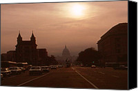 Photo-realism Photo Canvas Prints - Pennsylvania Ave - Washington Canvas Print by Peter Art Prints Posters Gallery