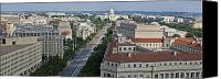 Washington Dc Canvas Prints - Pennsylvania Avenue Aerial - Washington DC Canvas Print by Brendan Reals
