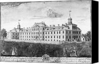 Colonial Man Canvas Prints - Pennsylvania Hospital, 1755 Canvas Print by Granger