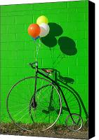 Riding Canvas Prints - Penny farthing bike Canvas Print by Garry Gay
