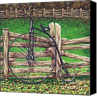 Penny Farthing Painting Canvas Prints - Penny Farthing  Canvas Print by Jeannette Bowen