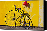 High Wheel Canvas Prints - Penny Farthing Love Canvas Print by Garry Gay