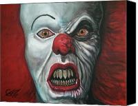 Clowns Canvas Prints - Pennywise Canvas Print by Tom Carlton