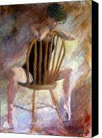 Ann Radley Canvas Prints - Pensive Dancer Canvas Print by Ann Radley