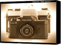 Film Camera Canvas Prints - Pentax 110 Auto Canvas Print by Mike McGlothlen