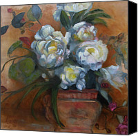 Susan Hanlon Canvas Prints - Peonies Canvas Print by Susan Hanlon