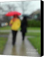 Raining Canvas Prints - People in the Rain Canvas Print by Oleksiy Maksymenko