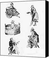 Crutch Canvas Prints - People With Leprosy Canvas Print by Science Source