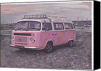 Campervan Canvas Prints - Peppa Pig Canvas Print by Sharon Poulton