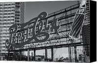 Clarence Holmes Canvas Prints - Pepsi-Cola Sign II Canvas Print by Clarence Holmes