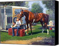 American Saddlebred Art Canvas Prints - Pepsi Please Canvas Print by Jeanne Newton Schoborg