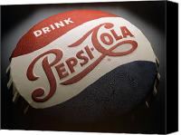 Soda Canvas Prints - Pepsi Sign Canvas Print by Bob Nardi