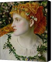 The Shepherdess Canvas Prints - Perdita Canvas Print by Anthony Frederick Augustus Sandys