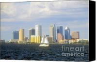Tampa Bay Florida Canvas Prints - Perfect day in Tampa Bay Canvas Print by David Lee Thompson