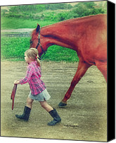 Horse Photographs Canvas Prints - Perfect Harmony Canvas Print by Kathy Jennings