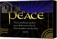 Christian Digital Art Canvas Prints - Perfect Peace Canvas Print by Greg Long