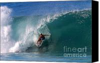 Surfing Canvas Prints - Perfect Pipeline Canvas Print by Paul Topp