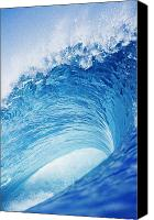 Water Art Canvas Prints - Perfect Wave At Pipeline Canvas Print by Vince Cavataio - Printscapes
