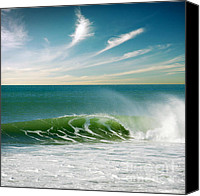 Beach  Wind Surfing Canvas Prints - Perfect Wave Canvas Print by Carlos Caetano