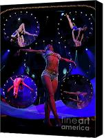 Acrobats Canvas Prints - Performers II Canvas Print by Al Bourassa