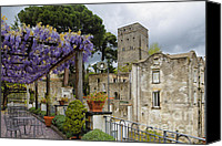 Amalfi Coast Canvas Prints - Pergola and Blooming Wisteria Canvas Print by George Oze