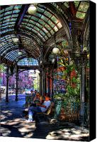 Pioneer Square Canvas Prints - Pergola Shadow Play Canvas Print by David Patterson