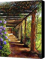 Most Liked Canvas Prints - Pergola Walkway Canvas Print by David Lloyd Glover