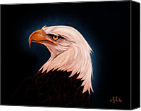 Bald Eagle Canvas Prints - Perserverance II Canvas Print by Adele Moscaritolo