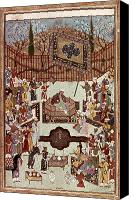 Persia Canvas Prints - Persian Miniature, 1567 Canvas Print by Granger