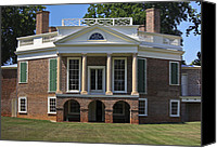 Octagonal Canvas Prints - Personal Villa Retreat of Thomas Jefferson Canvas Print by Teresa Mucha