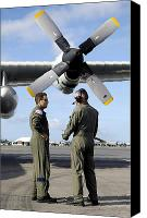 Talking Canvas Prints - Personnel Conduct A Pre-flight Briefing Canvas Print by Stocktrek Images