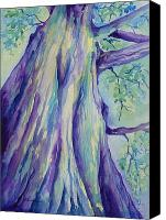 Big Tree Canvas Prints - Perspective Tree Canvas Print by Gretchen Bjornson