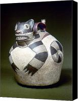 3rd Canvas Prints - Peru: Nazca Whistling Jar Canvas Print by Granger