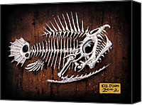 Fish Reliefs Canvas Prints - Pescado Uno Canvas Print by Baron Dixon