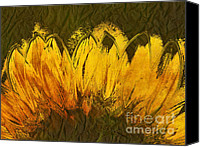 Yellow Flower Canvas Prints - Petales de Soleil - a43t02b Canvas Print by Variance Collections