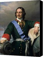 Great Painting Canvas Prints - Peter I the Great Canvas Print by Delaroche