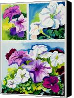 Purples Canvas Prints - Petunias in Summer Canvas Print by Janis Grau