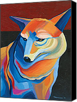 Creature Painting Canvas Prints - Peyote Coyote Canvas Print by Mike Lawrence