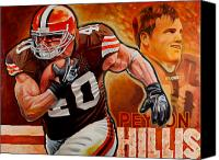 Arkansas Canvas Prints - Peyton Hillis Canvas Print by Jim Wetherington