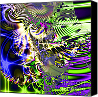 Julia Digital Art Canvas Prints - Phantasm . Square Canvas Print by Wingsdomain Art and Photography