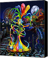 Kd Neeley Canvas Prints - Phantom Carnival Canvas Print by Kd Neeley