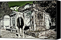 James Griffin Canvas Prints - Phantom In A New Orleans Cemetery Canvas Print by James Griffin