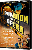 Horror Fantasy Movies Photo Canvas Prints - Phantom Of The Opera, Claude Rains Canvas Print by Everett