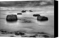Bw Canvas Prints - Phantom Pier Canvas Print by Ryan Wyckoff