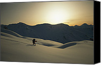 Atkinson Canvas Prints - Phil Atkinson Skiing The Purcell Canvas Print by Tim Laman